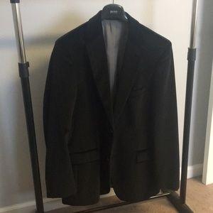 Velvet pindot blazer
